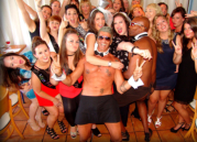 Dinner pack with cheeky butlers and strippers in Malaga