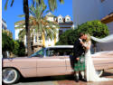 Classic wedding car hire, hens photoshooting